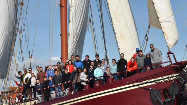 Participants on sailing boat